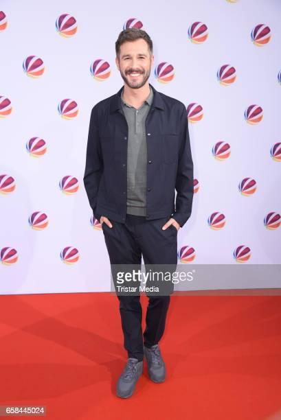 German moderator Jochen Schropp attends the photo call for the television film 'Nackt Das Netz vergisst nie' at Astor Film Lounge on March 27 2017 in...