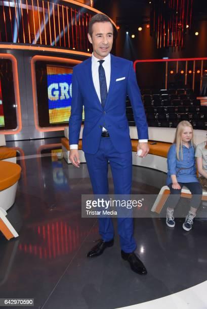 German moderator Kai Pflaume attends the TV Show 'Klein Gegen Gross' at Studio Adlershof on February 19 2017 in Berlin Germany