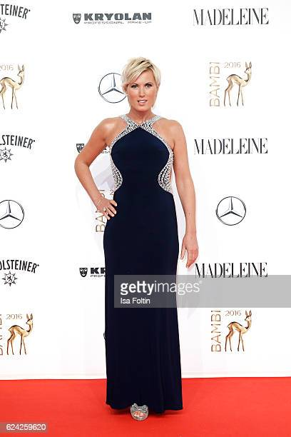 German moderator Kamilla Senjo arrives at the Bambi Awards 2016 at Stage Theater on November 17 2016 in Berlin Germany