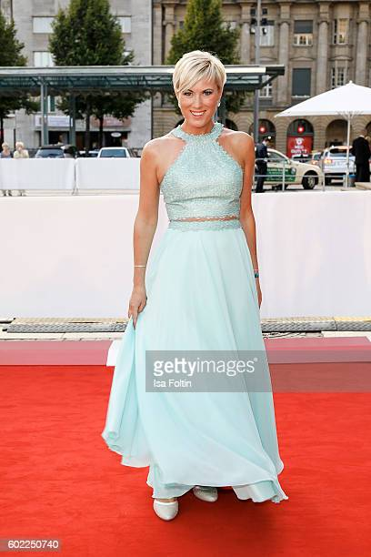 German moderator Kamilla Senjo attends the Leipzig Opera Ball 2016 on September 10 2016 in Leipzig Germany