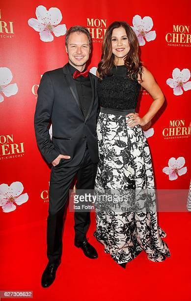 German moderator Karen Webb and her boyfriend attend the Mon Cheri Barbara Tag at Postpalast on December 2 2016 in Munich Germany
