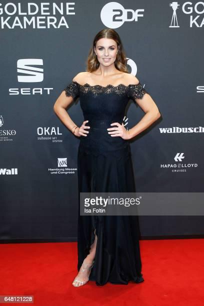 German moderator Laura Wontorra arrives for the Goldene Kamera on March 4 2017 in Hamburg Germany