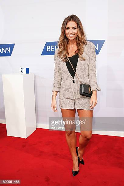 German moderator Laura Wontorra attends the Bertelsmann Summer Party at Bertelsmann Repraesentanz on September 8 2016 in Berlin Germany