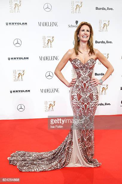 German moderator Mareile Hoeppner arrives at the Bambi Awards 2016 at Stage Theater on November 17 2016 in Berlin Germany