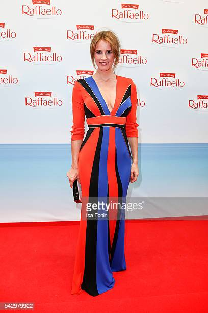 German moderator Mareile Hoeppner attends the Raffaello Summer Day 2016 to celebrate the 26th anniversary of Raffaello on June 24 2016 in Berlin...