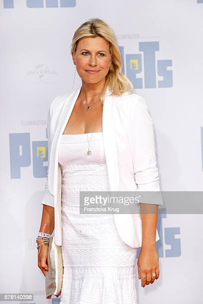 German moderator Nadine Krüger attends the premiere of the film 'PETS' at CineStar on July 20, 2016 in Berlin, Germany.