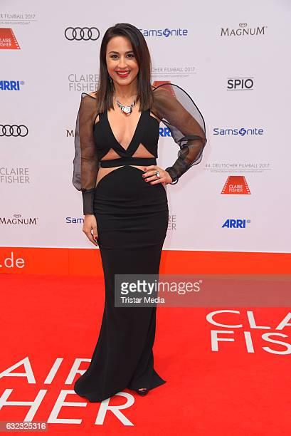 German moderator Nina Moghaddam attends the German Film Ball 2017 at Hotel Bayerischer Hof on January 21 2017 in Munich Germany