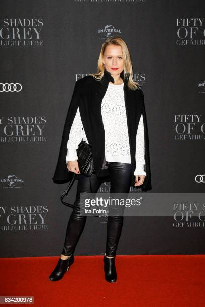 German moderator Nova Meierhenrich attends the European premiere of 'Fifty Shades Darker' at Cinemaxx on February 7 2017 in Hamburg Germany