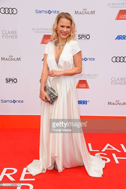 German moderator Nova Meierhenrich attends the German Film Ball 2017 at Hotel Bayerischer Hof on January 21 2017 in Munich Germany