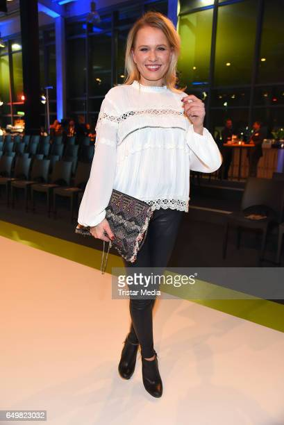German moderator Nova Meierhenrich attends the Tchibo 'Ready for the Green Carpet' Fashion Show on March 8 2017 in Hamburg Germany