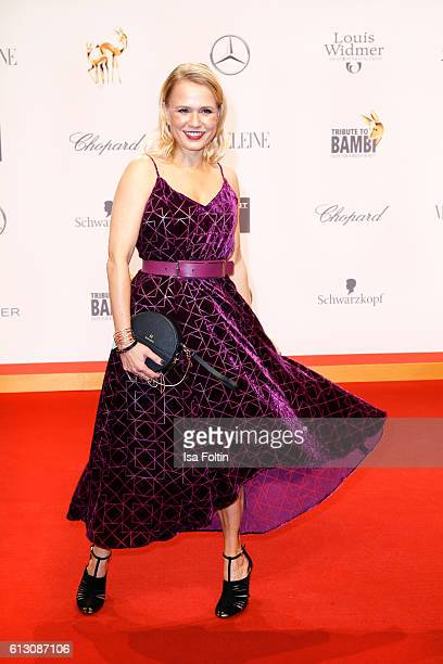 German moderator Nova Meierhenrich attends the Tribute To Bambi at Station on October 6 2016 in Berlin Germany