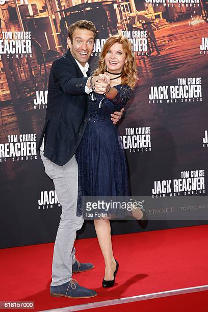 German moderator Peter Imhof and his wife german moderator Eva Imhof attend the 'Jack Reacher Never Go Back' Berlin Premiere at CineStar Sony Center...