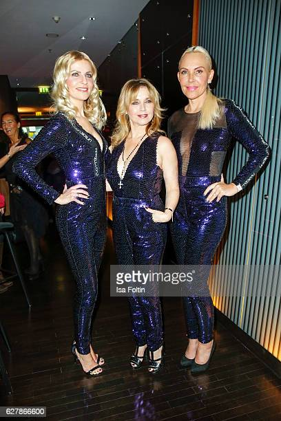 German moderator Tanja Buelter german actress Tina Ruland and german actress Natascha Ochsenknecht attend the 1st Anniversary Celebration Of Berlin...