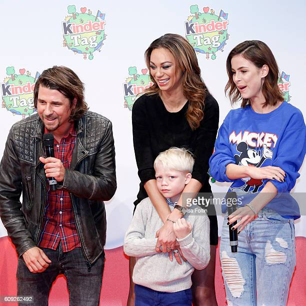 German moderator Tommy Scheel Lilly Becker and her son Amadeus Beckerand singer Lena MeyerLandrut attend the KinderTag to celebrate children's day on...
