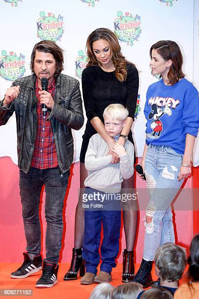 German moderator Tommy Scheel Lilly Becker with her son Amadeus Becker and singer Lena MeyerLandrut attend the KinderTag to celebrate children's day...