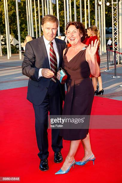 German moderator Ulrich Meyer and his wife Georgia Tornow attend the IFA 2016 opening gala on September 1 2016 in Berlin Germany