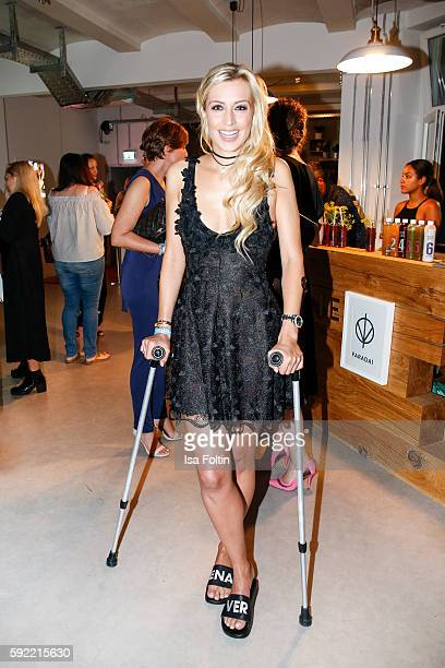 German moderator Verena Kerth attends the Amorelie Wonderland dinner party at their new headquarter on August 19 2016 in Berlin Germany