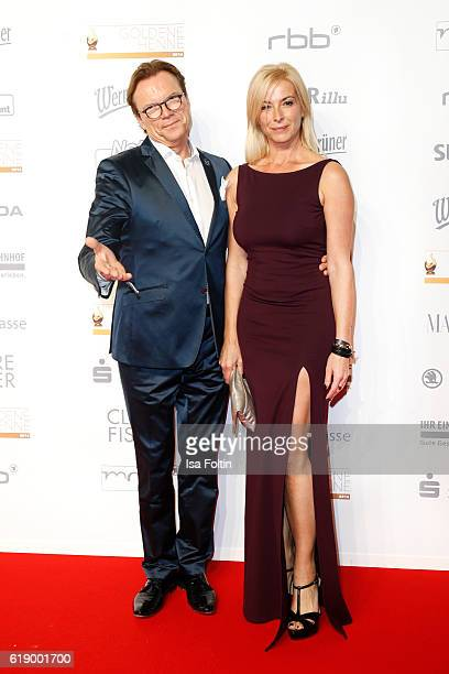German moderator Wolfgang Lippert and his wife Gesine Lippert attend the Goldene Henne on October 28 2016 in Leipzig Germany