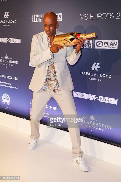 German moderator Yared Dibaba attends the Fashion2Night event at EUROPA 2 on August 23, 2016 in Hamburg, Germany.