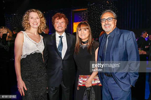 German moerator Franziska Reichenbacher, producer Dieter Wedel, german actor Wolfgang Stumph and his wife Christine Stumph during the aftershow party...