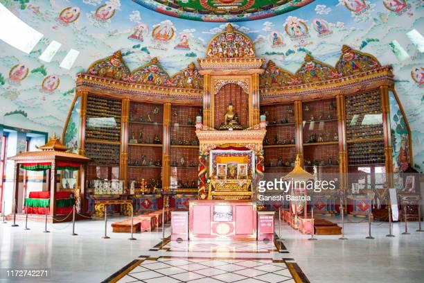 german monastery interior view - lumbini nepal stock pictures, royalty-free photos & images