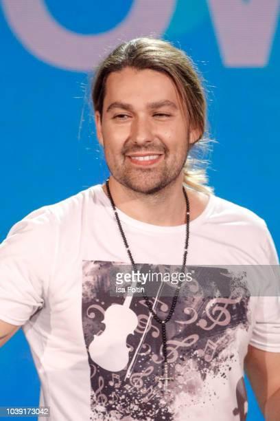 German musician David Garrett during the tv show 'Gottschalks grosse 68er Show' on September 6 2018 in Hamburg Germany