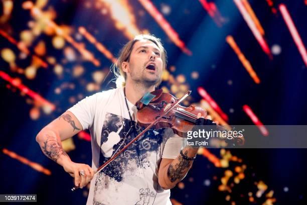 German musician David Garrett performs during the tv show 'Gottschalks grosse 68er Show' on September 6 2018 in Hamburg Germany