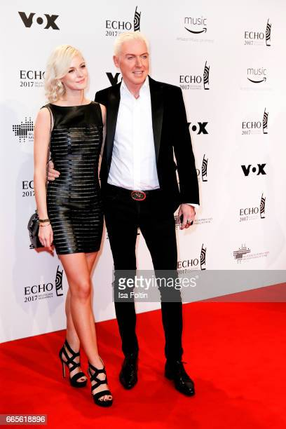German musician HP Baxxter and his girlfriend Lysann Geller during the Echo award red carpet on April 6 2017 in Berlin Germany
