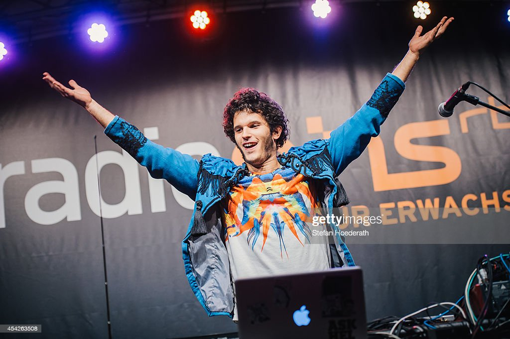 German musician Kid Simius performs live on stage during a concert at Radio Eins Parkfest on August 27, 2014 in Berlin, Germany.