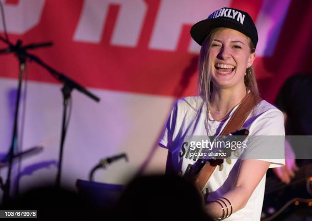 German musician Kiddo Kat alias Anna Guder performs on stage in Hamburg Germany 02 June 2016 Gruber and her band kicked off a short tour Kiddo Kat...