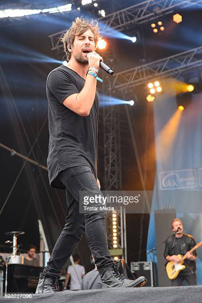 German musician Max Giesinger performs at the Radio Brocken Sommer Open Air Stars For Free on August 21 2016 in Magdeburg Germany