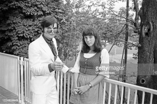 German musician Oliver Freytag und Angelika Simon, Germany, 1960s.