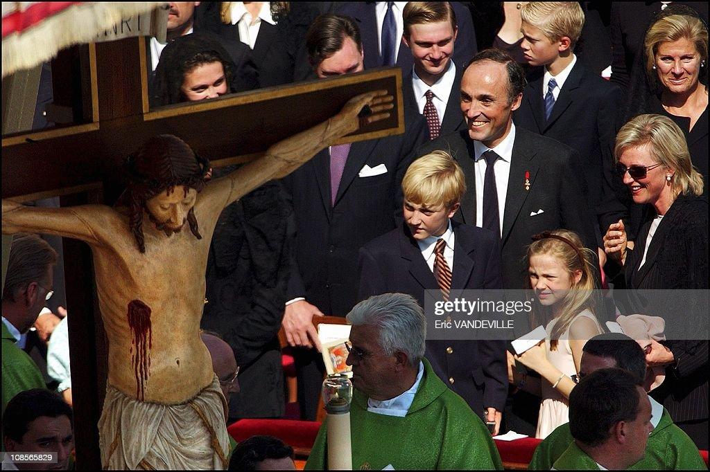 Pope John-Paul II beatified Austria's last emperor Karl I of Habsburg in Rome, Italy on October 03rd , 2004. : News Photo