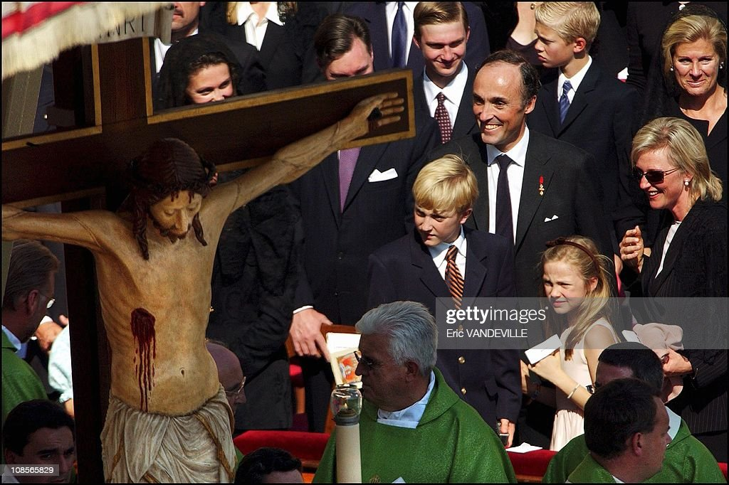 German mystic and stigmatist nun Anna Katharina Emmerick who inspired Mel Gibson's film on Christ's passion; French priests Joseph-Marie Cassant and Pierre Vigne and Italian nun Maria Ludovica De Angelis. Prince Lorenz , Princess Astrid of Belgium and their children in Rome, Italy on October 03rd , 2004.