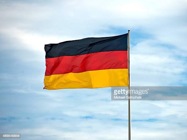 German national Flag on September 22 2015 in Berlin Germany