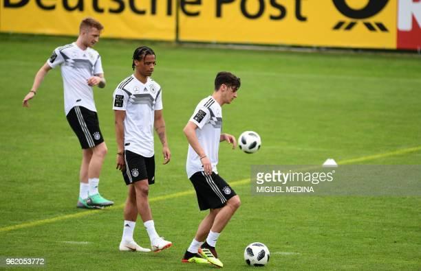 German national football team forward Marco Reus German national football team forward Leroy Sane and German national football team midfielder Mesut...