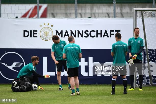 German national football team goalkeeper Kevin Trapp German assistant coach Marcus Sorg goalkeeper trainer Andreas Koepke German assistant coach...