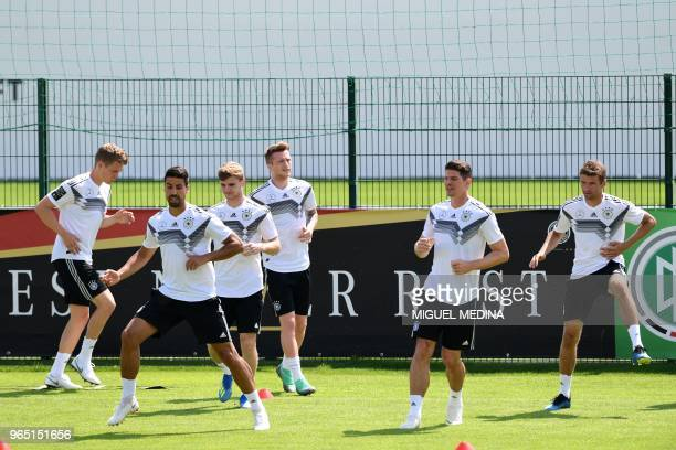 German national football team midfielder Matthias Ginter midfielder Sami Khedira forward Timo Werner forward Marco Reus forward Mario Gomez and...