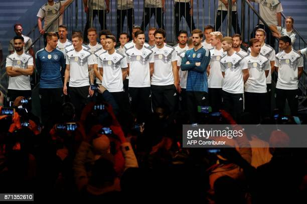 German national football team's members forward Timo Werner , goalkeeper Kevin Trapp , defender Mats Hummels , midfielder Julian Draxler , midfielder...