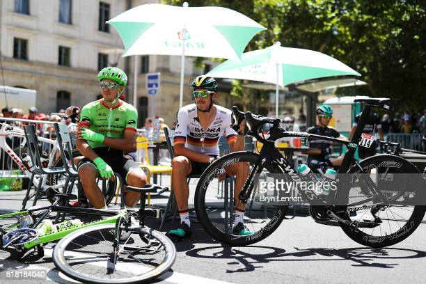German National Road Race Champion Marcus Burghardt of BoraHansgrohe attends the start of stage sixteen of the 2017 Tour de France a 165km road stage...