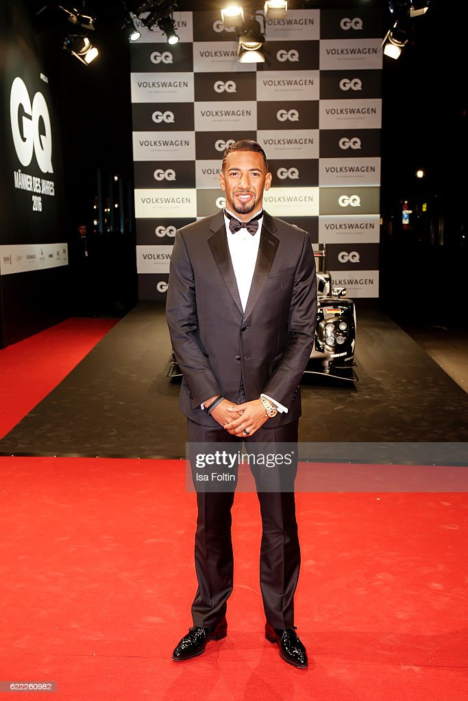 German national soccer player Jerome Boateng attends the GQ Men of the year Award 2016 (german: GQ Maenner des Jahres 2016) at Komische Oper on November 10, 2016 in Berlin, Germany.