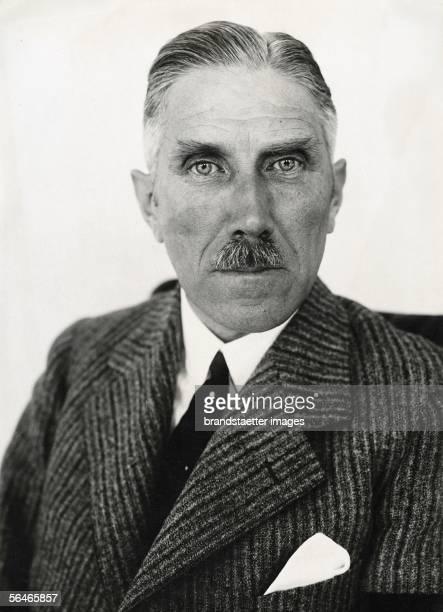 German national socialist politician Franz von Papen. Photography. 1934. [Der deutsche nationalsozialistische Politiker Franz von Papen....