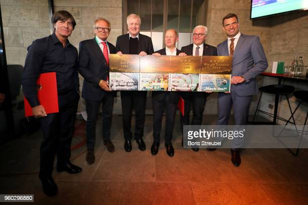 German national team head coach Joachim Loew Deutsche Sporthilfe CEO Werner E Klatten federal minister of interior Horst Seehofer federal finance...