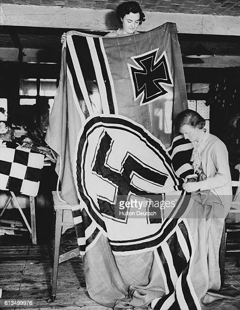 A German naval ensign specially designed for use in British warships when in German waters is now being made by the wellknown flag makers Adam Lane...