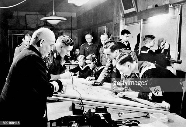 WW2 German navy headquarters Naval auxiliaries working and plotting