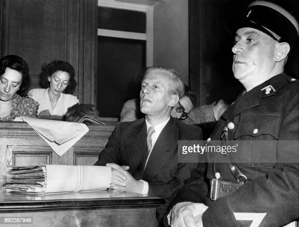 German Nazi ambassador during the occupation in France Otto Abetz is pictured at the opening of his trial on July 12 1949 in Paris for crimes against...