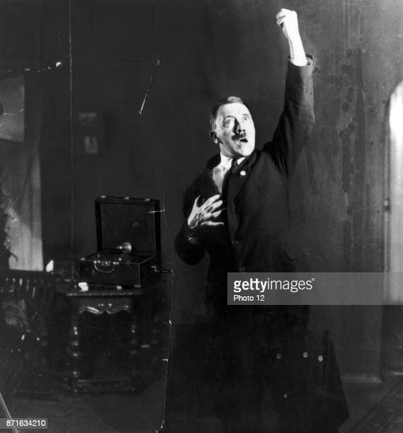 German Nazi leader Adolf Hitler Austrianborn German politician who was the leader of the Nazi Party rehearsing a speech in front of the mirror Dated...