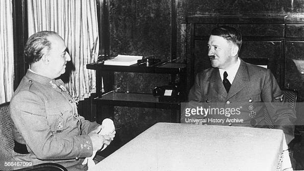 German Nazi leader Adolf Hitler meets Spanish Nationalist General Franco in Berlin 1936