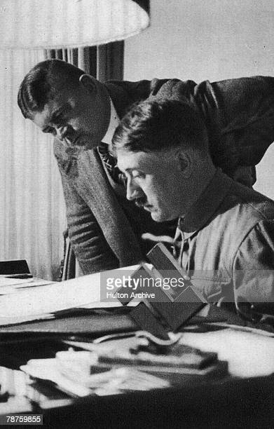 German Nazi leader Adolf Hitler with SA chief of staff Ernst Roehm circa 1933 Picture 47 of a series of collectable images published in Germany...