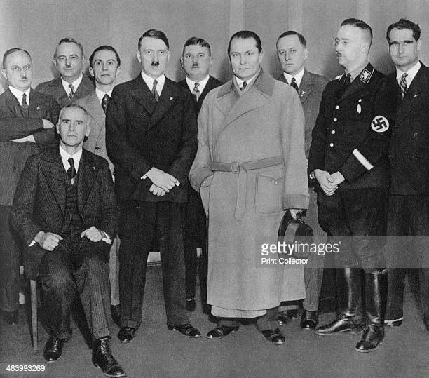 German Nazi party leaders c1933 Adolf Hitler with other senior Nazis including Hanns Kerrl Wilhelm Kube Joseph Goebbels Ernst Röhm Hermann Göring...